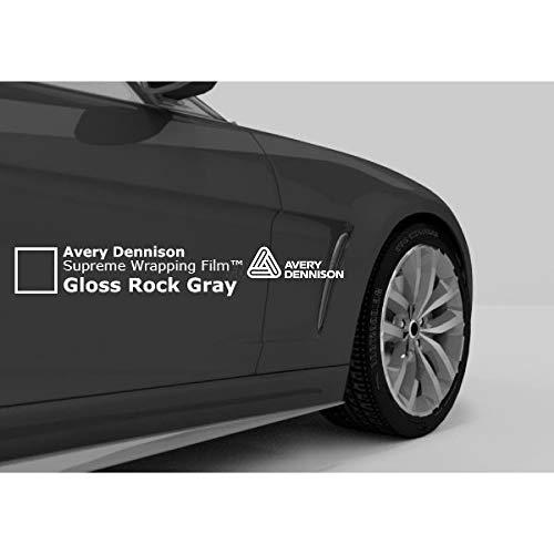 Avery SW900 Gloss Rock Grey   821-O   Vinyl CAR WRAP Film (Sample 2.5in x 4in)