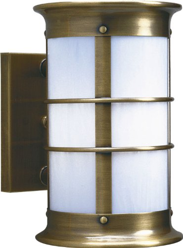 Arroyo Craftsman NS-19LNRW Newport Nautical Outdoor Long Body Wall Sconce - 20.125 inches tall