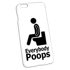 Everybody Poops - Person on Toilet Snap On Hard Protective Case for Apple iPhone 6 6s Plus
