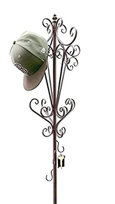 #1 Bellaa Home Furnishing Coat Rack with Umbrella Holder, Cap Holders, Key Holders All in One.