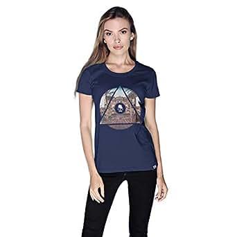 Creo Abu Dhabi T-Shirt For Women - Xl, Navy Blue