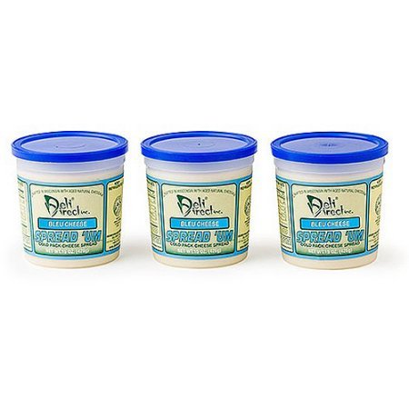 Wisconsin Cheese Spread - Chunky Bleu 3 Pack of 15oz. Each Containers)