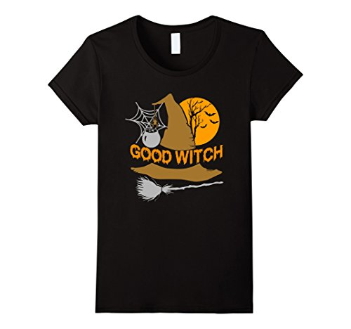 Homemade Good Witch Costume (Womens Good Witch Cute Halloween T-Shirt Large Black)
