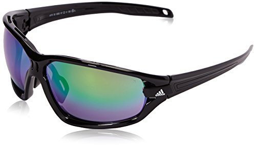 adidas Evil Eye Evo S Polarized Rectangular Sunglasses, Black Shiny/Black, 67 - Evo Sunglasses