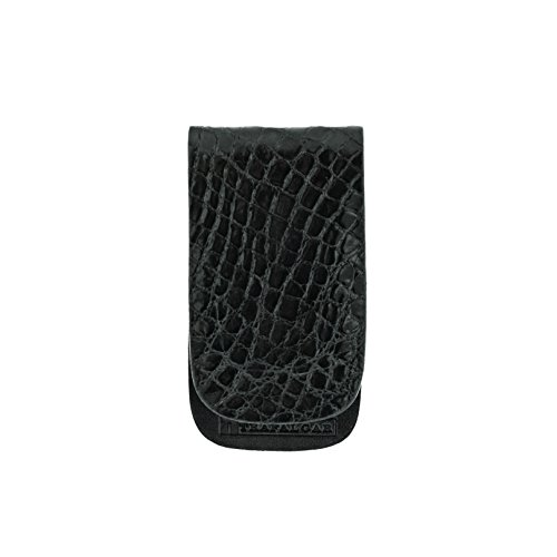 Trafalgar Genuine Alligator Magnetic Money Clip Black 30% OFF