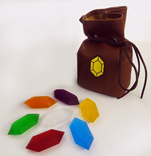 Legend of Zelda Rupees Set of 7 with rupee wallet ...