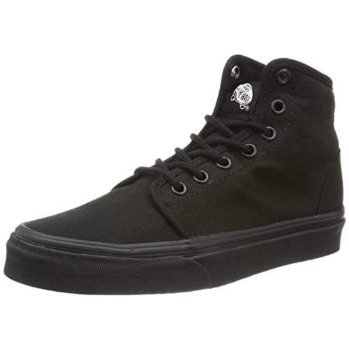 black hightop vans
