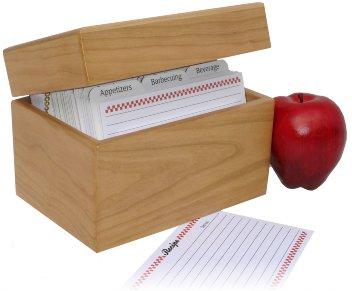 amazon com 4 x 6 cherry recipe card box recipe holders kitchen