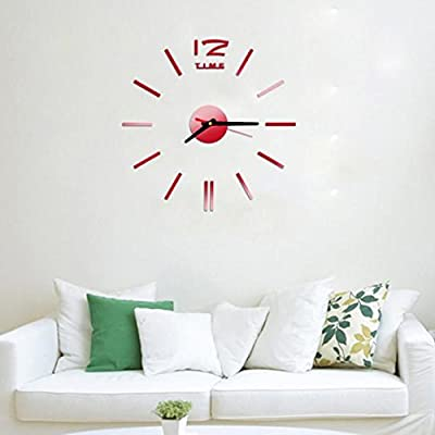 Mini Moderno Reloj de Pared DIY 3D Sticker diseño Home Office Room ...