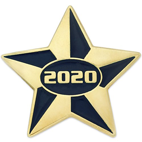 PinMart 2020 Blue and Gold Star Class of School Graduation Enamel Lapel Pin