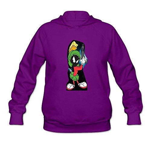 (JUST Women's Movie Marvin The Martian Gun Sweatshirts)
