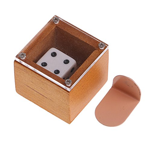 MonkeyJack Mind Magic Dice Moving Die Wooden Case Street Magic Trick Props for Magician Show Stage Practice Parts Die Case