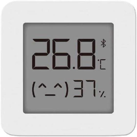 Dewanxin Termómetro e Higrómetro Bluetooth,para Xiaomi Mijia Termómetro Higrómetro Digital para Interior Termohigrómetro,con Pantalla LCD Remota,para Mijia, Hogar,Casa de Flores, Cocina (1 Pack)
