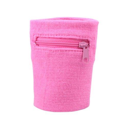 Zipper Skin Costume (Suddora Multi Colored Zipper Sweatband Wristband (Pink))