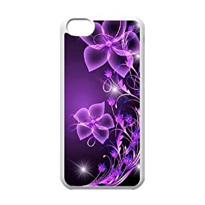 LJF phone case Galaxy Purple Original New Print DIY Phone Case for Iphone 5C,personalized case cover ygtg596685