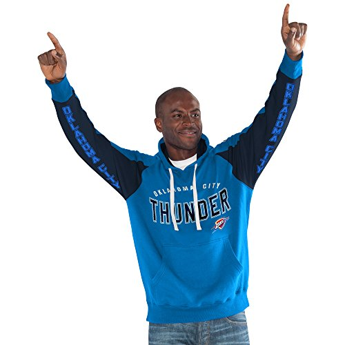 NBA Oklahoma City Thunder Centerfield Pullover Hoody, Large, Blue by Hands High