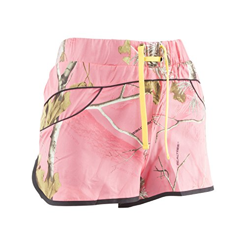 Realtree Girl Rylee Shorts | Realtree | APC Camo Sugar Coral/Empire Yellow | X-Large | Pack of 2