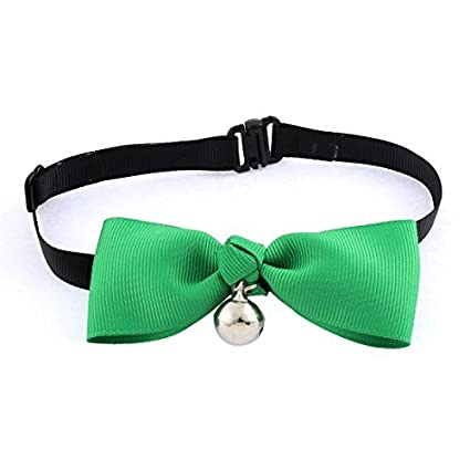 Amazon.com: eDealMax Gato Bowknot colgante de Bell pajarita corbata de Cuello de ropa Partido Verde: Home Audio & Theater