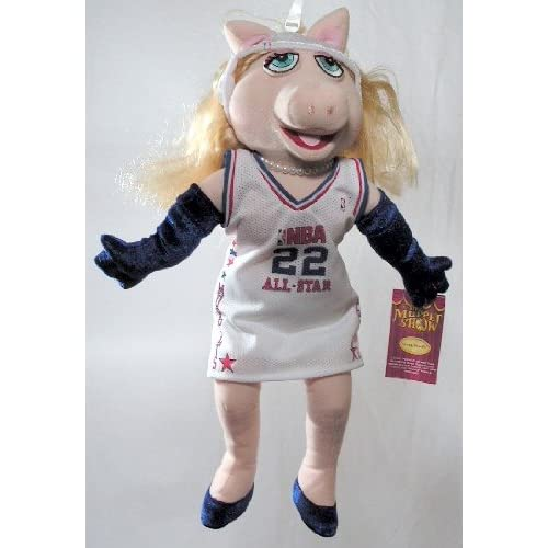 "16"" NBA All-Star Miss Piggy Plush Doll ~ Muppet Show"