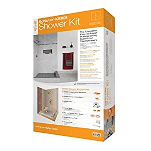 "SCHLUTER SYSTEMS KERDI SHOWER KIT 32"" x 60"" OFF CENTER DRAIN PVC STAINLESS STEEL from SCHLUTER SYSTEMS"