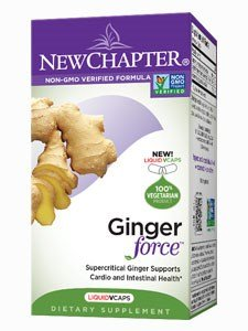 Organic Ginger Supplement, New Chapter Ginger Force, 30 Softgels