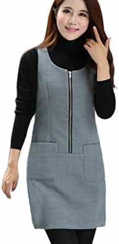 8856a2d89d7 Ms Stunner Women s Sleeveless Bodycon Pockets 5 Colors 7 Sizes Winter Dress