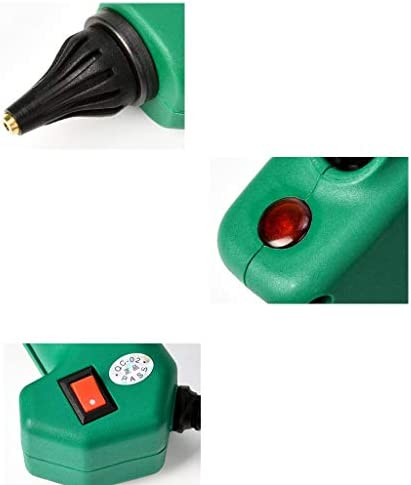 Xing zhe ホットメルト接着ガン、60W、80W、100Wプロフェッショナルホットグルーガン、急速加熱、DIYアートの作成に適した、休日の装飾、グリーン 贈り物 (Color : 80W)