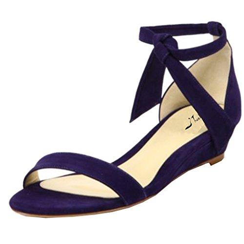 Jushee - Zapatos de tacón  mujer Morado - morado