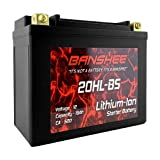 Lithium Ion 20L-BS Battery 500 Cranking Amps 12V Replaces 78-0827 YTX20HL-BS