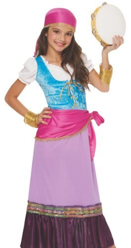 Gypsy Girl Child Costumes (Costume Culture Women's Pretty Gypsy Girl's Costume, Multi, Large by Costume Culture)