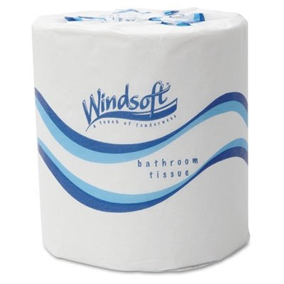 Windsoft Embossed Bath Tissue, 2-Ply, 500 Sheets/Roll, 48 Rolls/Carton -  2405