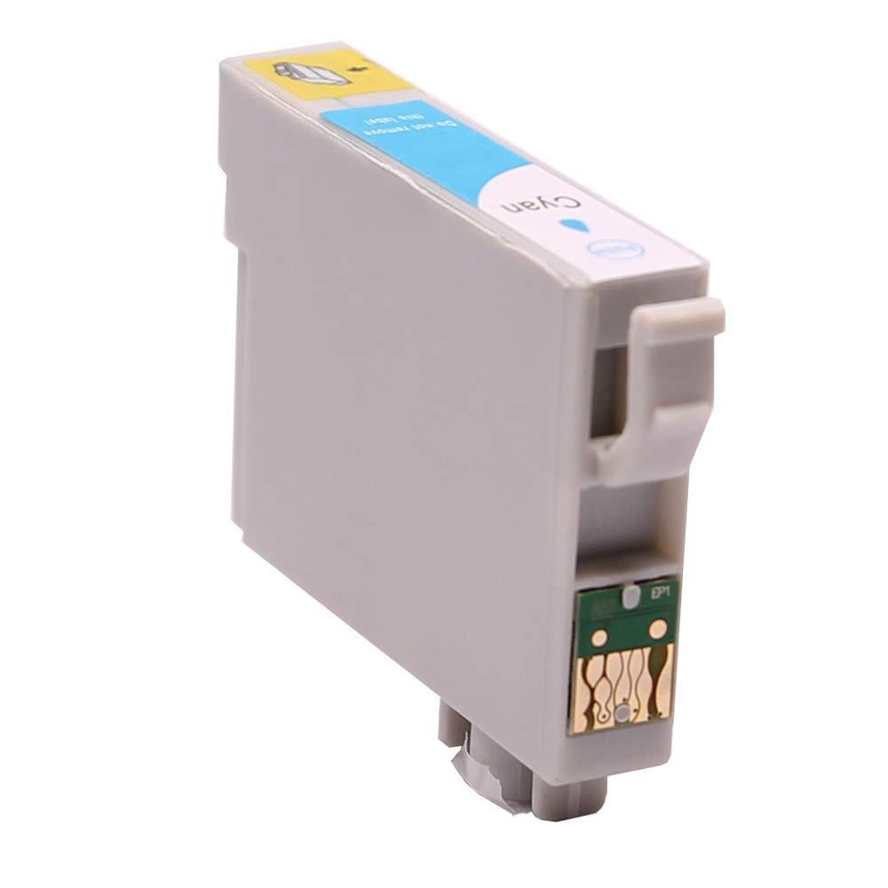 ABC - Cartucho de Tinta Compatible con Epson T0612 Cian Stylus D68 ...