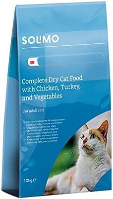 Marca Amazon - Solimo - Alimento seco completo para gatos adultos ...