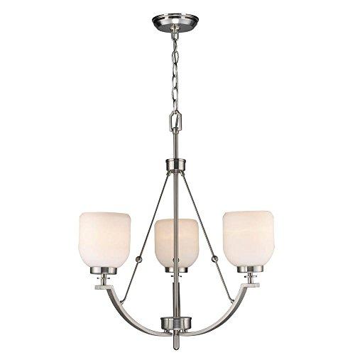 World Imports Lighting 61003 Bailie 3-Light Chandelier in Brushed Nickel For Sale