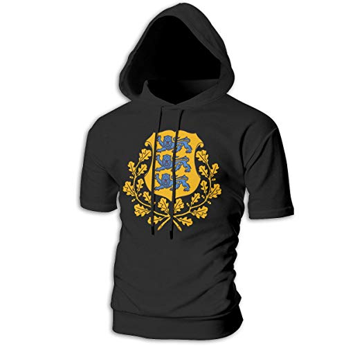 f Arms of Estonia National Emblem Short Sleeve Hoodies Hooded Sweater Jumpsuits Suit ()