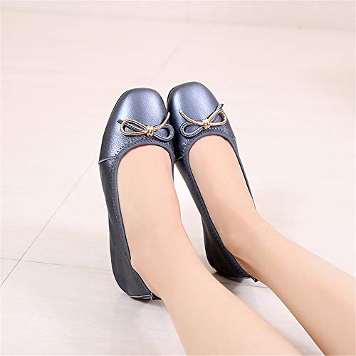 flat autumn work single fashion shoes dance mouth and shoes shoes Spring shoes women casual pregnant comfortable leather shoes FLYRCX B shallow shoes qHBE7nvw
