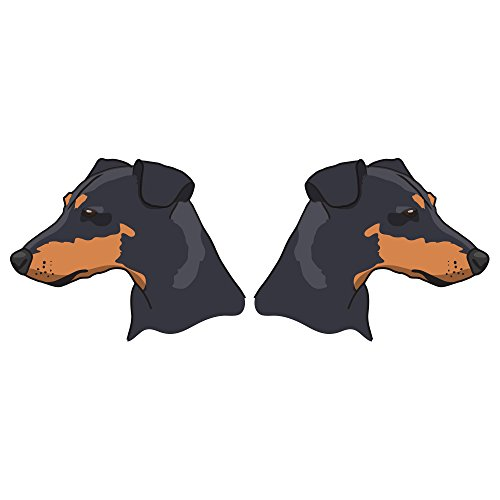 SignMission Manchester Terrier Decal | Indoor/Outdoor | Dog Lover Super Cute Sticker for SUV Windows, Dorm Rooms, Bedroom, Offices personalized gift | 2 Pack of 6 - Manchester Bedroom Furniture