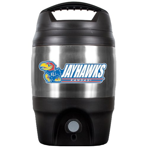 Great American Products NCAA Kansas Jayhawks Tailgate Jug, 1 Gallon, Multi