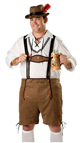 Bavarian Guy Plus Costumes (Plus Size XXL German Beer Men Oktoberfest Man's Adult Halloween Costumes)
