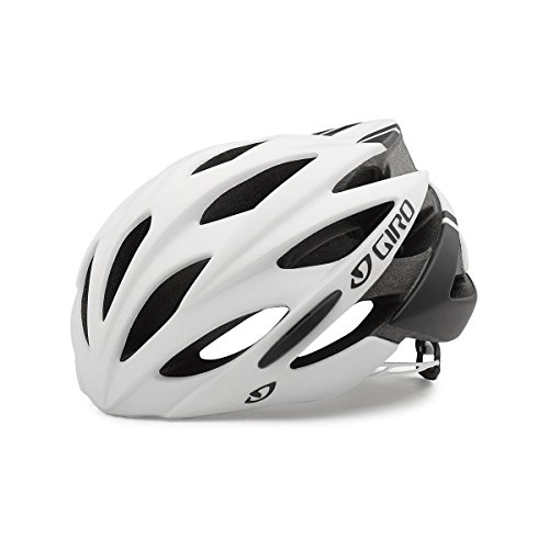 Giro Savant Road Bike Helmet, Matte White/Black, Medium