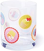 Excelsa Cupcakes Set Glasses, Glass, Multicoloured, 22cl, Set of 3