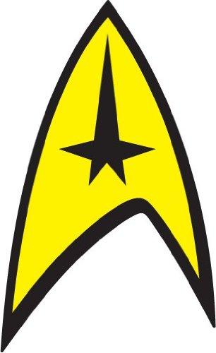 - Star Trek Insignia Bumper Sticker 3'' x 5''