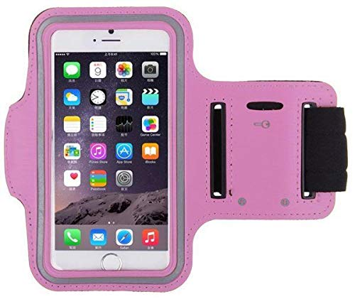 For iPhone 6 6S Sports Waterproof Jogging Gym Fitness Running Armband Arm  Holder Case Cover Pink Color