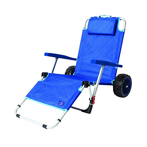 Mac Sports 2-in-1 Outdoor Beach Cart + Folding Lounge Chair