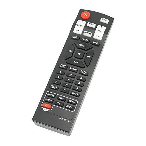 AIDITIYMI AKB73575402 - Mando a Distancia para LG Sound Bar NB2420A NB2520A NB2530A NB3520A NB3530A NB3730A NB3531A NB3532A...