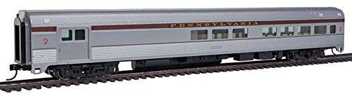 Streamlined Baggage Car - 85' Budd Baggage-Lounge - Ready to Run -- Pennsylvania Railroad (silver, Tuscan)