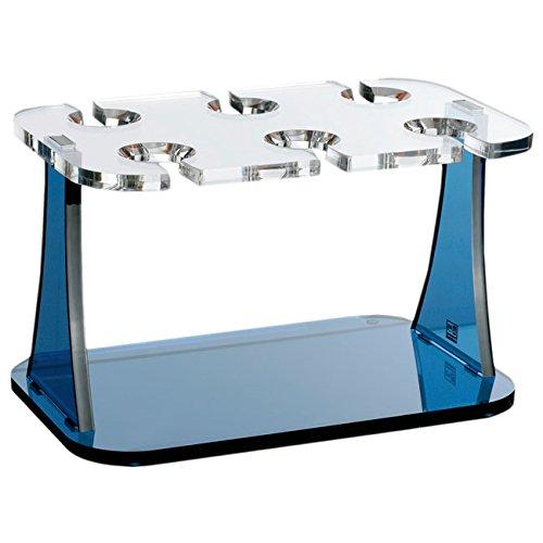 Blau und Transparent Acryl /Porta Gl/äser Marine Business Party/