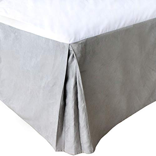 (JIAOHJ Bedding Pleated Bed Skirt - Luxury Suede dust-Proof Ruffle, Classic 14