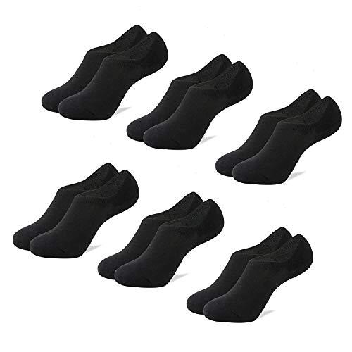 5f04b21b64d5 Mens No Show Socks Non-Slip Grips Casual Low Cut Boat Sock 6 Pack ...