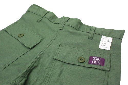 GUNG HO:4POCKET FATIGUE ベイカーパンツ MADE IN U.S.A. 画像1
